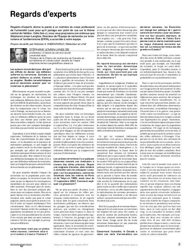 3Volume 5 - Numéro 3 - Octobre 2010 www.regardcritique.ulaval.ca Les auteurs s'accordent pour dire qu'il est difficile de ...