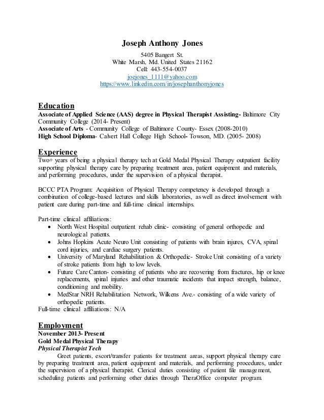 Joseph Anthony Jones 5405 Bangert St. White Marsh, Md. United States 21162  Cell ...