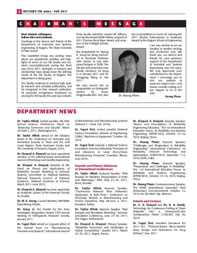 ISE_Newsletter_2011 Slide 2