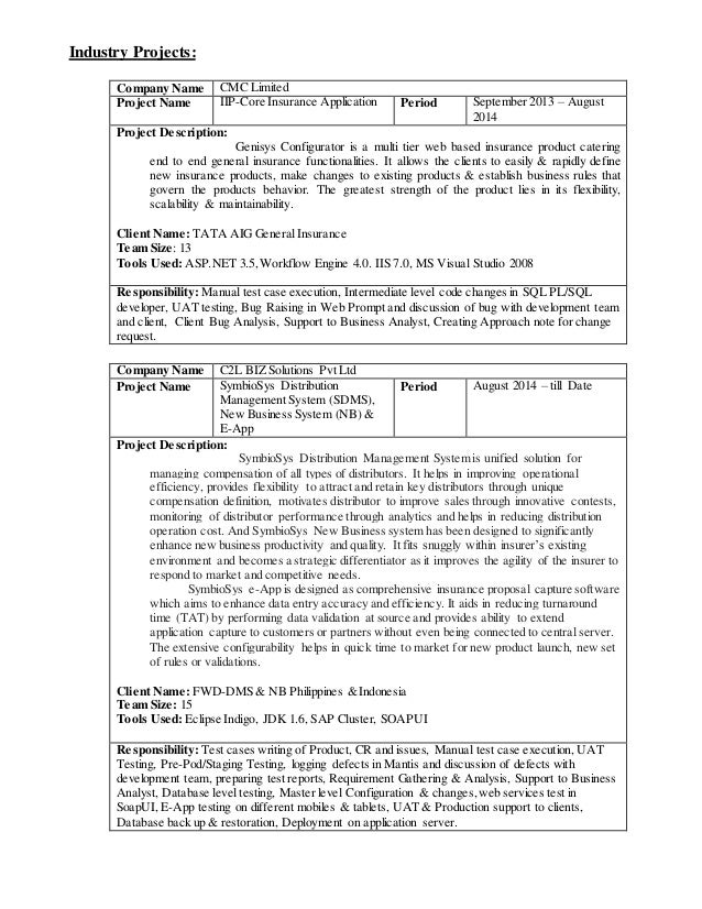 Sagar Gavhane Software Tester Resume .