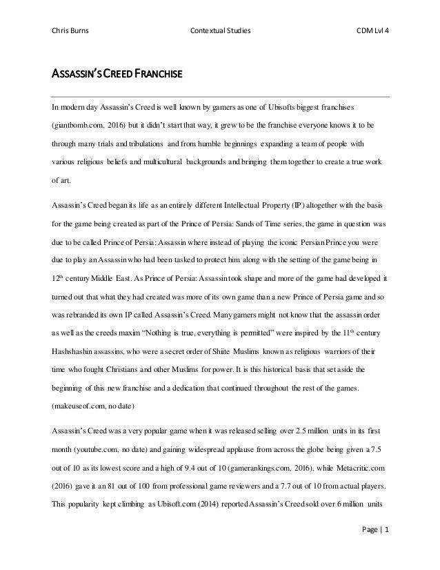 Assassin essay