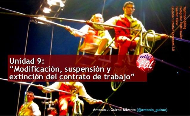 """Profesor: Antonio J. Guirao Silvente Antonio J. Guirao Silvente (@antonio_guirao) Unidad 9:Unidad 9: """"Modificación, suspen..."""