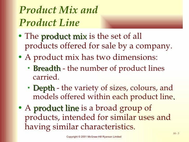 Product mix strategies trading up and trading down