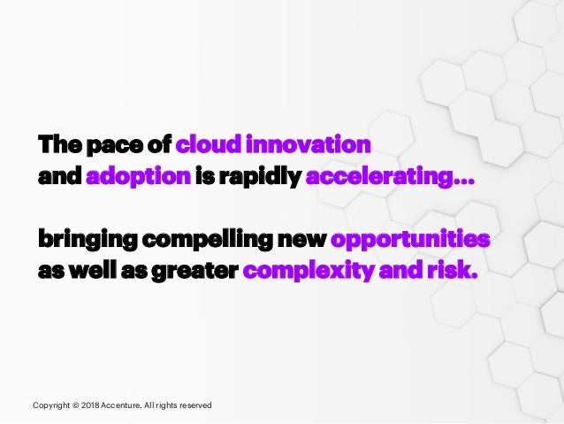 The pace of cloud innovation and adoption is rapidly accelerating… bringing compelling new opportunities as well as greate...
