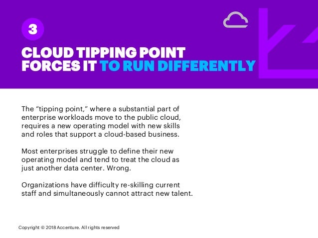 """The """"tipping point,"""" where a substantial part of enterprise workloads move to the public cloud, requires a new operating m..."""