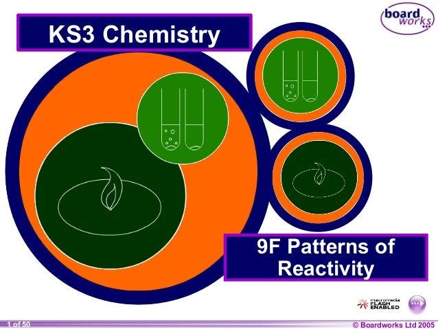 © Boardworks Ltd 20041 of 20 © Boardworks Ltd 20051 of 50 KS3 Chemistry 9F Patterns of Reactivity
