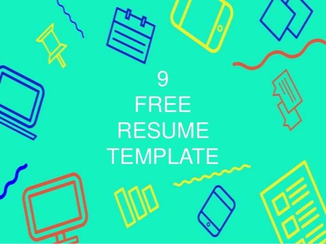 9 free resume template
