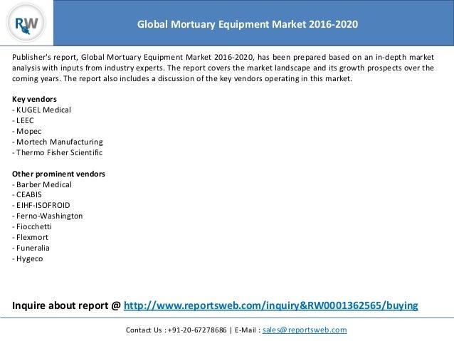 Mortuary Equipment Market Global Forecast to 2020