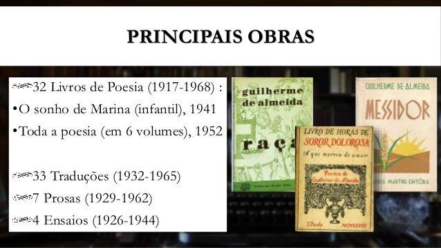 Guilherme De Almeida Primeira Fase Do Modernismo