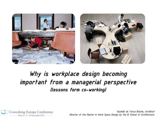 Why is workplace design becomingimportant from a managerial perspective          (lessons form co-working)                ...