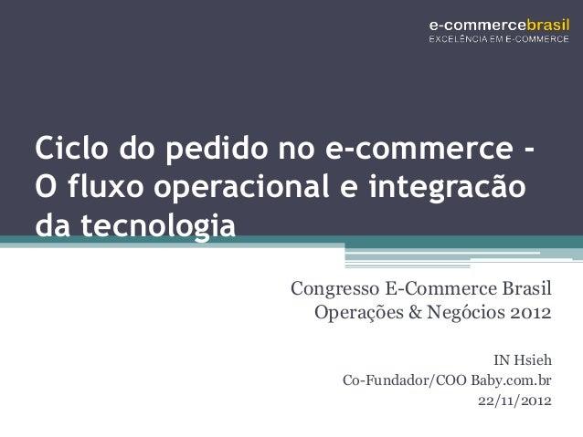Ciclo do pedido no e-commerce -O fluxo operacional e integracãoda tecnologia                Congresso E-Commerce Brasil   ...