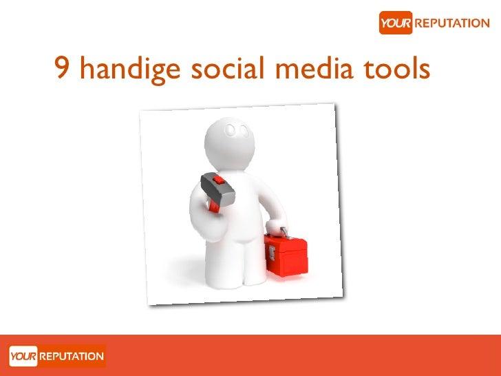 9 handige social media tools