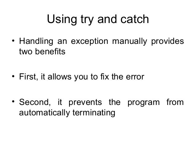 how to fix a java exception has occurred
