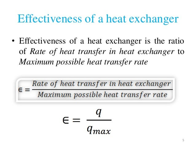 effectiveness of heat exchanger pdf