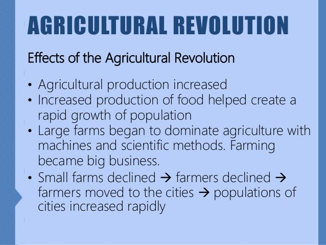 9 History Movement Of People Agricultural Revolution