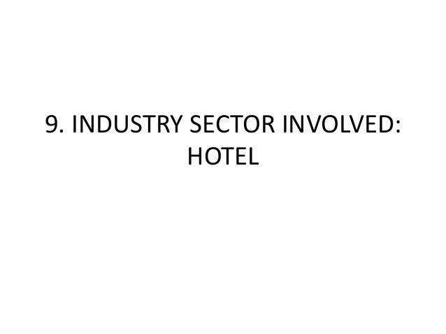 9. INDUSTRY SECTOR INVOLVED:            HOTEL