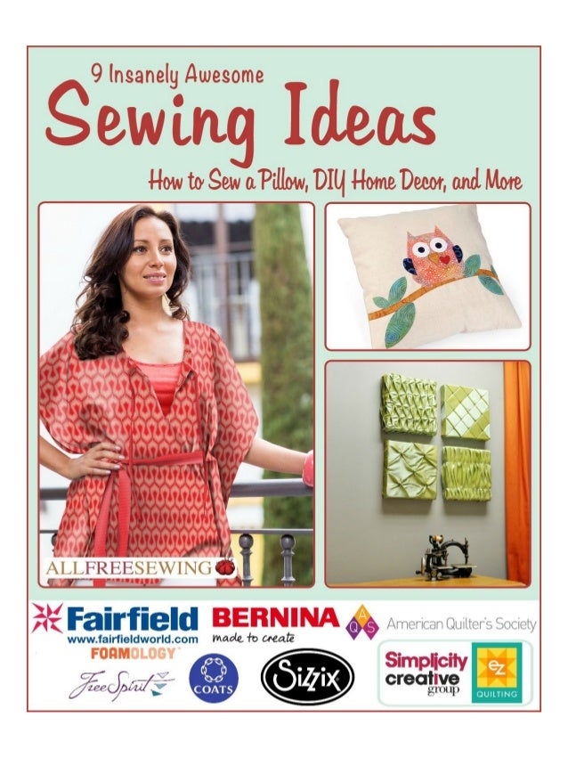 9 Insanely Awesome Sewing Ideas How to Sew a Pillow DIY Home Decor ...  sc 1 st  SlideShare & 9 insanely awesome sewing ideas how to sew a pillow diy home decor anu2026