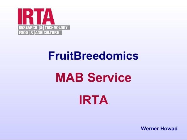 FruitBreedomics  MAB Service IRTA Werner Howad