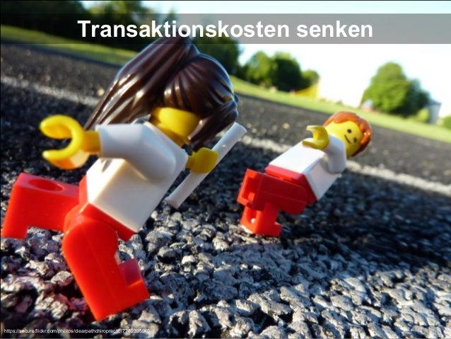 Transaktionskosten senken  https://secure.flickr.com/photos/clearpathchiropractic/7732395940