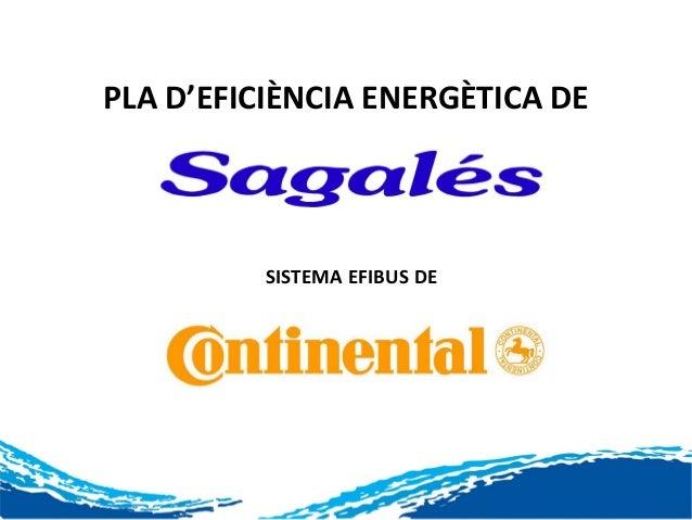 PLA D'EFICIÈNCIA ENERGÈTICA DE          SISTEMA EFIBUS DE