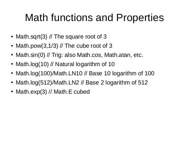 ... Math Ceil Floor Java By Javascript Objects ...