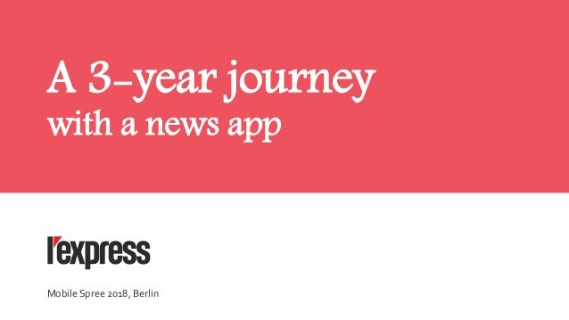 A 3-year journey with a news app Mobile Spree 2018, Berlin