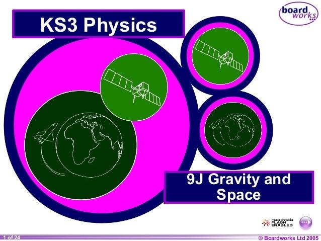 © Boardworks Ltd 20041 of 20 © Boardworks Ltd 20051 of 24 KS3 Physics 9J Gravity and Space