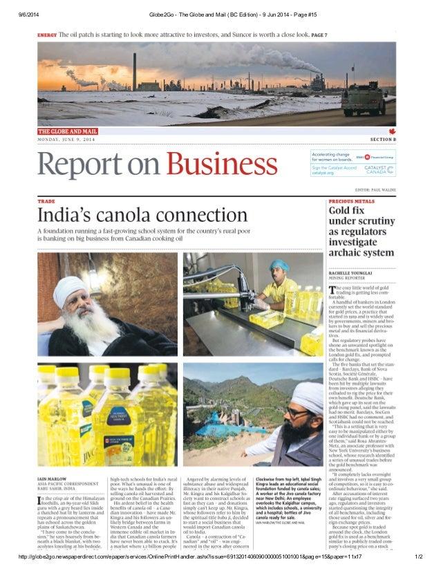 9/6/2014 Globe2Go - The Globe and Mail (BC Edition) - 9 Jun 2014 - Page #15 http://globe2go.newspaperdirect.com/epaper/ser...