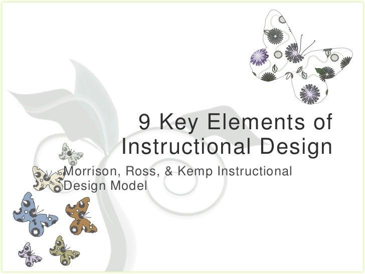 9 Key Elements of         Instructional DesignMorrison, Ross, & Kemp InstructionalDesign Model