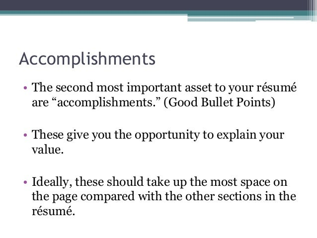 what are accomplishments in a resume