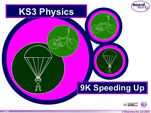 © Boardworks Ltd 20041 of 20 © Boardworks Ltd 20051 of 41 KS3 Physics 9K Speeding Up