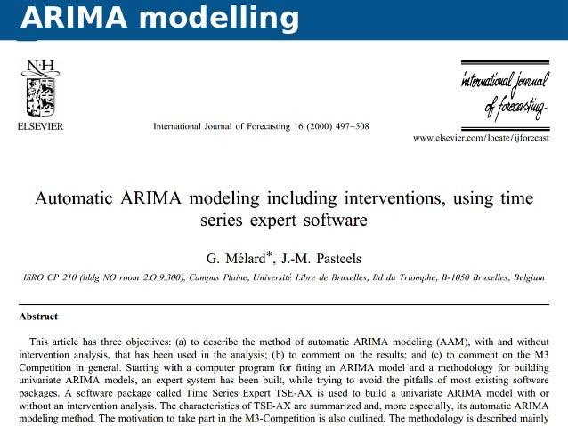 ARIMA modelling Automatic time series forecasting ARIMA modelling 46