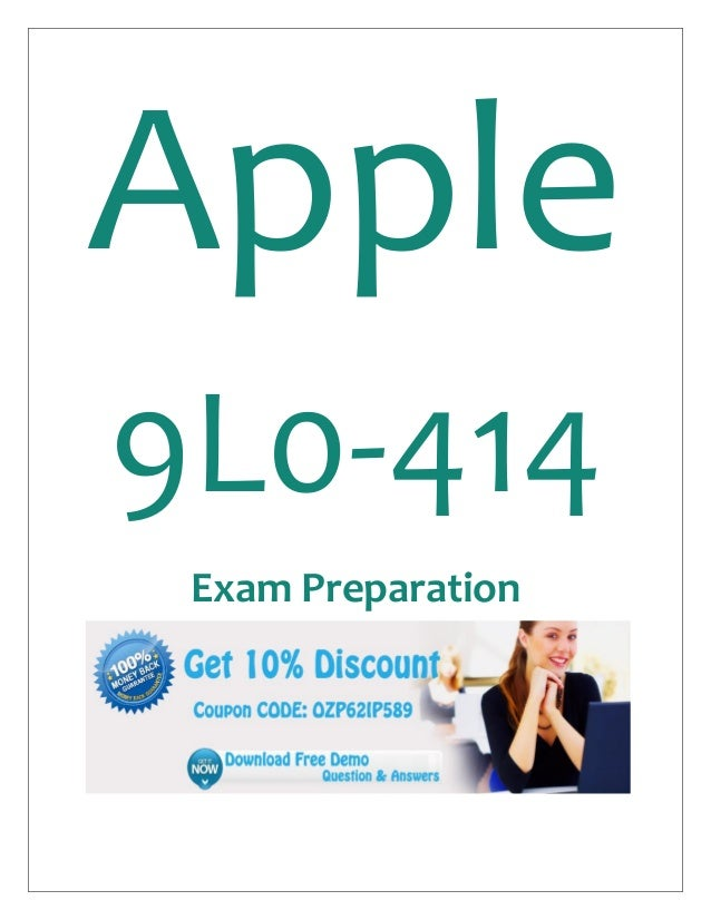 Apple 9L0-414 Exam Preparation