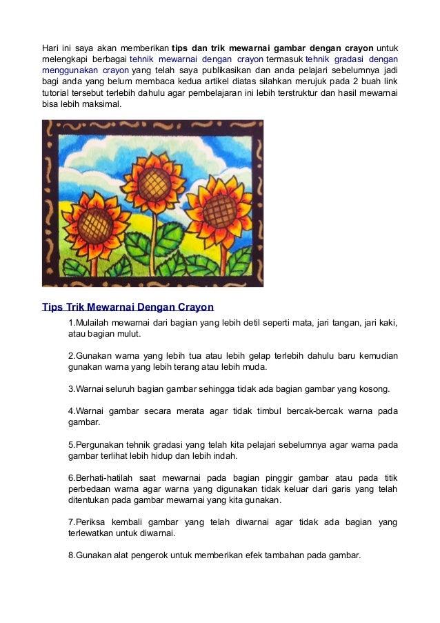 Tips Dan Trik Mewarnai Dengan Crayon