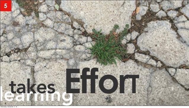 learningtakes EfforT 5 Wednesday, November 11, 15