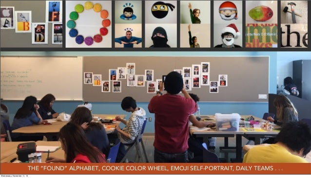 "THE ""FOUND"" ALPHABET, COOKIE COLOR WHEEL, EMOJI SELF-PORTRAIT, DAILY TEAMS . . . Wednesday, November 11, 15"