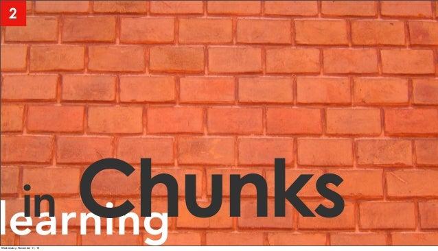 learningin Chunks 2 Wednesday, November 11, 15