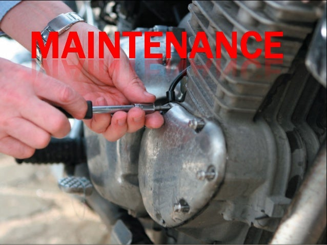  There are many aspects to maintenance of machinery.  The main purpose of maintenance is to ensure that machinery always...