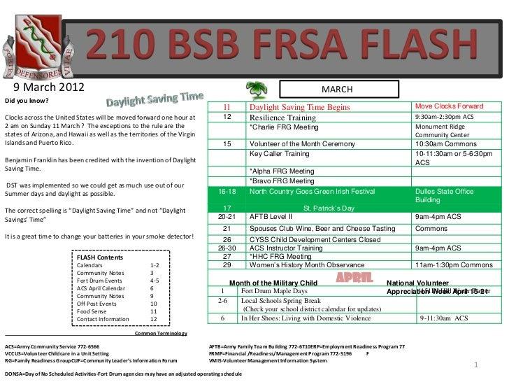 210 BSB FRSA FLASH   9 March 2012                                                                                         ...