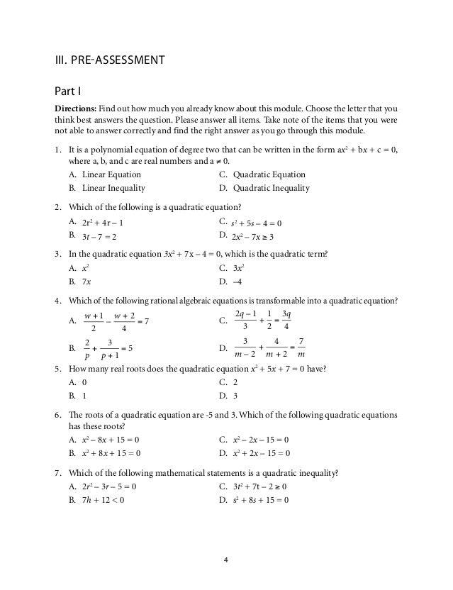 Unit 8 quadratic equations homework 7