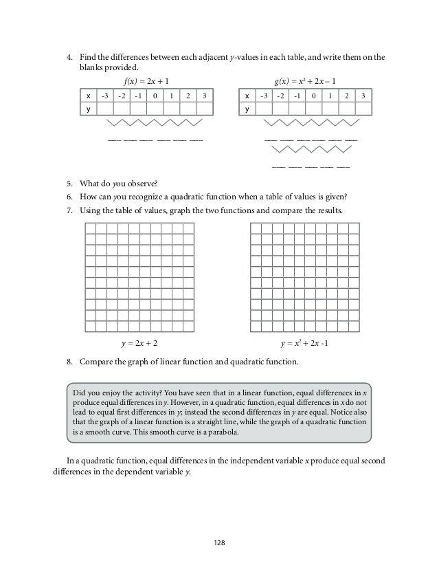 quadratic equation worksheet pdf