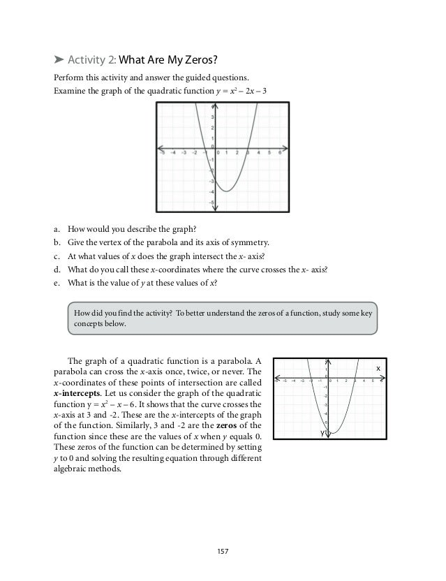 Grade 9 Mathematics Unit 2 Quadratic Functions – Graphing Quadratic Functions in Standard Form Worksheet