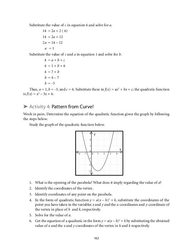Grade 9 Mathematics Unit 2 Quadratic Functions – Solving Quadratic Functions Worksheet