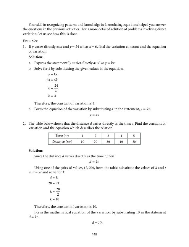 Direct Variation Worksheet Delibertad – Direct Variation Worksheet