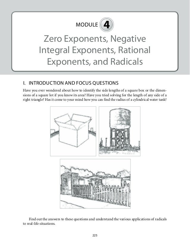 Grade 9 Mathematics Unit 4Zero Exponents Negative Integral Exponent – Negative and Zero Exponents Worksheet