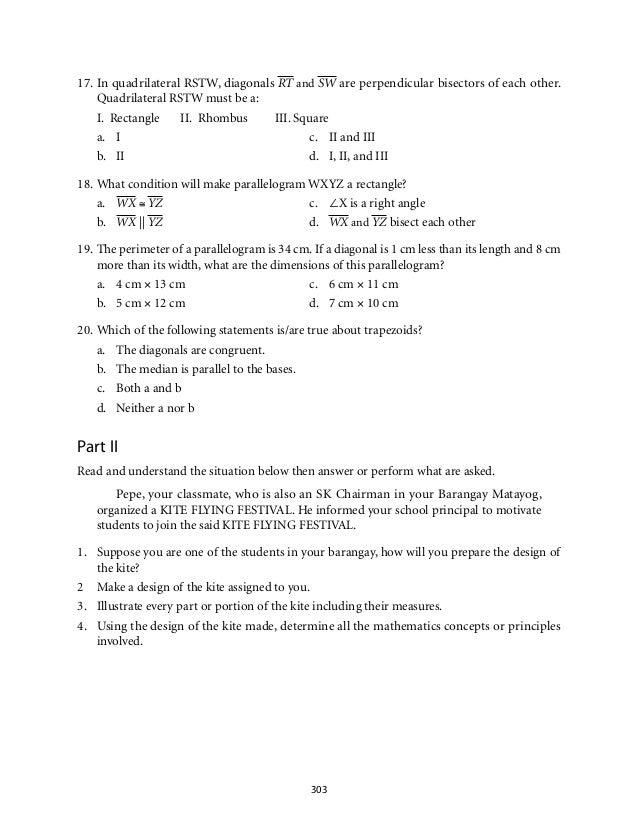 Grade 9 mathematics module 5 quadrilaterals lm a y 10 ccuart Images