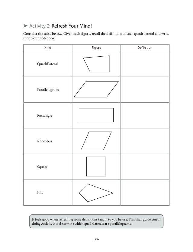 Properties Of Quadrilaterals 13 Worksheet grade 9 mathematics – Properties of Quadrilaterals Worksheet