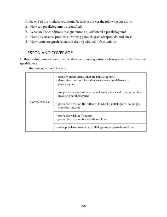 Grade 9 Mathematics Module 5 Quadrilaterals Lm