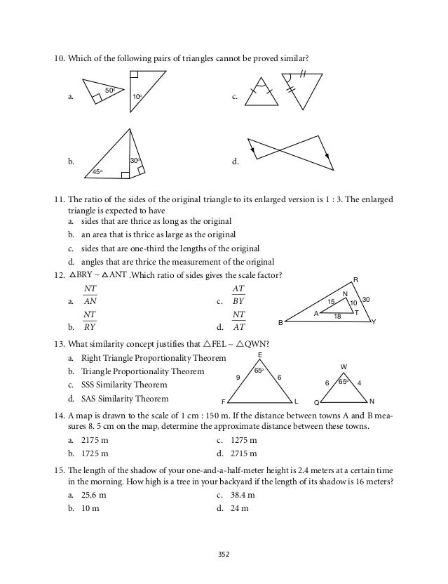 Worksheets Similar Shapes Worksheet Grade 4 grade 9 mathematics module 6 similarity 14 30 17 u t y e b x 9