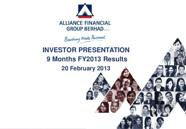 INVESTOR PRESENTATION 9 Months FY2013 Results     20 February 2013